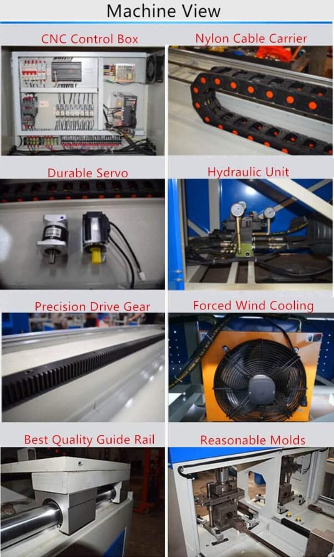 CNC Hydraulic Metal Hole Punching Machine View