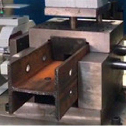 Double T iron bar 3 holes punch machine